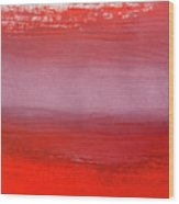 Shades Of Red Abstract Gouache Wood Print