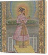 Shah Jahan On A Terrace Wood Print