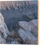 Shale Mountain Wood Print