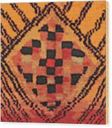 Shaman Tribal Badge Wood Print