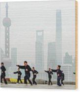 Shanghai Morning Tai Chi Wood Print