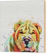 Shar Pei Dog Wood Print