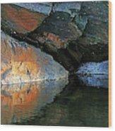 Shawanaga Rock And Reflections Xi Wood Print