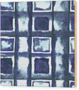 Shibori Box Pattern II Wood Print