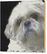 Shih Tzu For Dad-bubba Wood Print