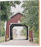 Shimanek Covered Bridge Wood Print