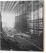 Shipbuilding Wood Print