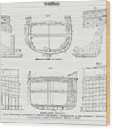 Shipbuilding Wooden And Iron Ship, Wood Wood Print