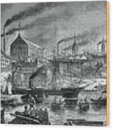 Shipyards And Shipping On The Clyde Wood Print