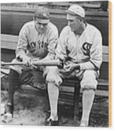 Shoeless Joe Jackson And Babe Ruth Wood Print