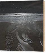Shore Of The Cosmic Ocean Wood Print
