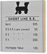 Short Line R.r. Wood Print
