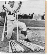 Shortstop Bud Harrelson With His Heavy Wood Print