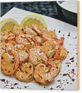 Shrimps With Chili Wood Print