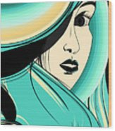 Shy Girl Wood Print