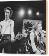 Sid Vicious And Johnny Rotten Wood Print
