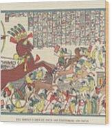 Siege Of Dapur By Ramesses II 1269 Bc Wood Print