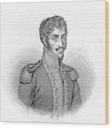 Simon Bolivar Venezuelan Statesman, Soldier, And Revolutionary Leader Wood Print