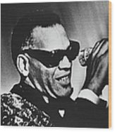 Singer Ray Charles Wood Print
