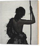 Female Samurai - Onna Bugeisha Wood Print