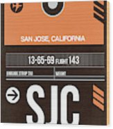 Sjc San Jose Luggage Tag II Wood Print