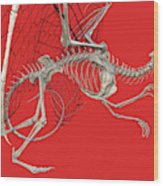 Skeleton Dragon With Red Wood Print