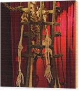 Skeleton  In Torturedevise Wood Print