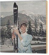 Ski Siren Wood Print