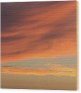 Skies Of Orange Wood Print