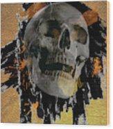Skull - 9 Wood Print