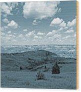 Sky And Prairie Dance Wood Print
