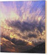 Sky Burst Wood Print