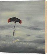 Skydiver Wood Print