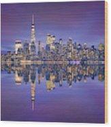 Skyline From Nj Wood Print