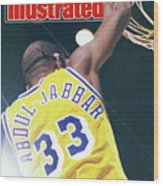 Slam The Lakers Beat Boston For The Nba Title Sports Illustrated Cover Wood Print