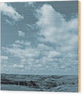 Slope County And Sky Wood Print