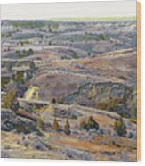 Slope County Badlands Reverie Wood Print