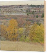 Slope County September Splendor Wood Print
