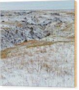 Slope County Snowfall Wood Print