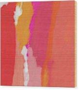 Slow Burn- Abstract Art By Linda Woods Wood Print