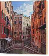 Small Canals In Venice Italy Wood Print