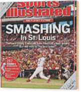 Smashing In St. Louis Sports Illustrated Cover Wood Print