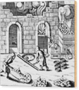Smelting Of Copper, 1683 Wood Print