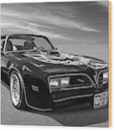Smokey And The Bandit Trans Am In Mono Wood Print