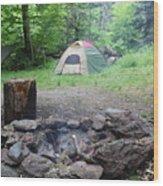 Smoking Tents Wood Print