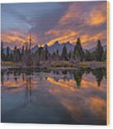Snake River Glory Wood Print