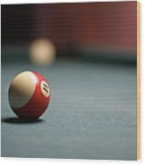 Snooker Ball Wood Print