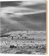 Snow Covers Northern New Mexico Wood Print