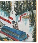 Snowbird Lift Study Wood Print