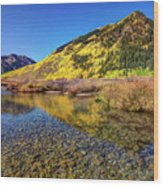 Snowmass Creek Wood Print